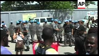 Protest in front of United Nations headquarters