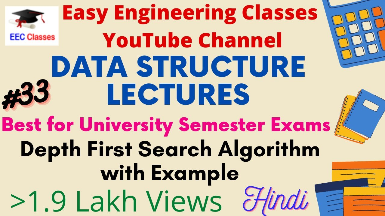 Implementation Of Line Drawing Algorithm : Depth first search algorithm in hindi english with example youtube