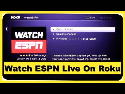 Watch ESPN Live On Roku