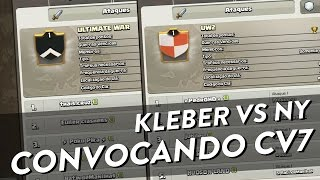 A GUERRA DOS INSCRITOS - KLEBER VS NY - CONVOCANDO CV 7 - CLASH OF CLANS - CLÃ APOCALIPSE