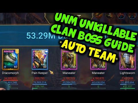 UNM Full Auto Unkillable Clan Boss Guide