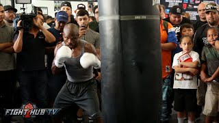 Pacquiao vs. Bradley 3 video- Timothy Bradley COMPLETE media workout video