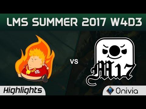 FB vs M17 Highlights Game 3 LMS 精華 夏季職業聯賽 2017 SUMMER Fireball vs Machi Espoorts by Onivia