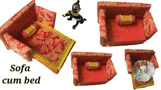 How to make kanha ji bed || kanha ji bed making || Bal gopal bed || sofa cum bed