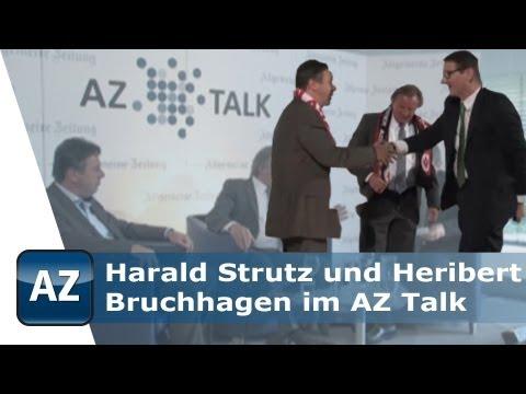 Harald Strutz und Heribert Bruchhagen im AZ Talk