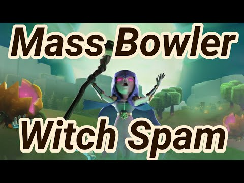 mass bowler witch giant spam | Bowitch | 3 Star War Attack | Spam | TH 12 | COC Clash of Clans 03/19