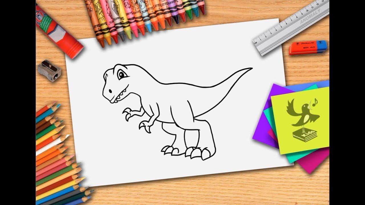 hoe teken je een dinosaurus zelf dino leren tekenen