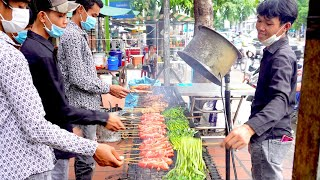Amazing BBQ Grill Chinese Style   Most Popular Food in Phnom Penh