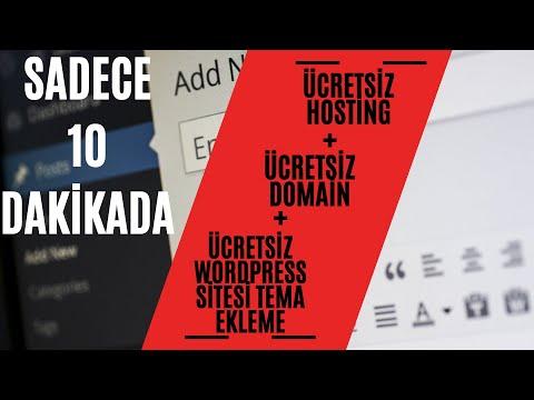 Ücretsiz Host ve Domain ile Site Kurma (Süresiz) ve Ücretsiz Temalama