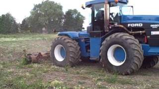 Ford Tractor 9680 and prototype 4m folding subsoiler Jul 10 2009