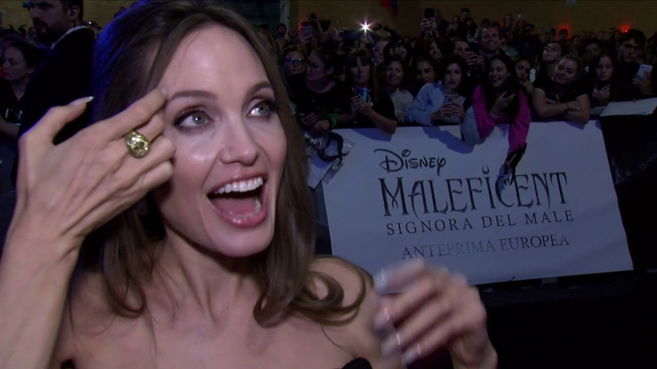 Angelina Jolie At Maleficent 2 In Rome Premiere