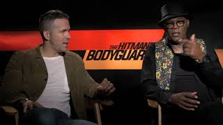 Exclusive: The Hitman's Bodyguard Interview with Ryan Reynolds, Samuel L. Jackson and Salma Hayek