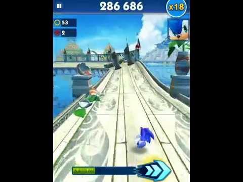 Sonic Dash! Самый быстрый ежик! Серия 105! Супер Прыжок! Игра iPhone iPad