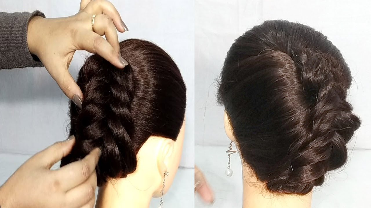 Very Easy French Roll Bun Hairstyles For Thin Hair Kurti