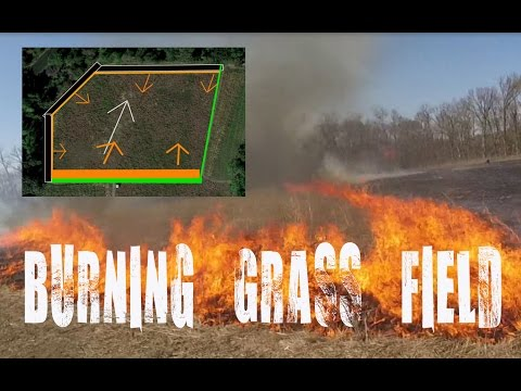 How to safely burn a pasture, field of grass - controlled prescribed burn CRP