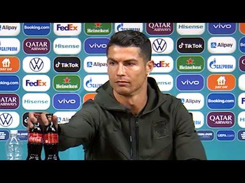 Cristiano Ronaldo - Hungary v Portugal - Pre-Match Press Conference (Removes Coca-Cola)- Euro 2020