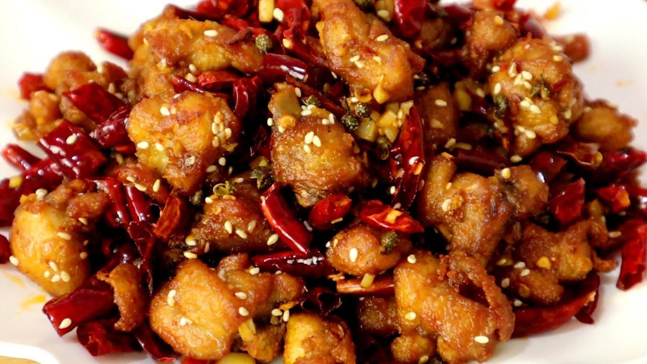 饭店的辣子鸡又香又酥,学会自己在家做,用料简单,好吃又解馋