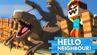 Minecraft Baby Hello Neighbour - THE NEIGHBOUR RELEASES ALL THE DINOSAURS