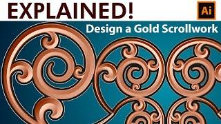 How to make a Gold Scrollwork Border - Adobe Illustrator Tutorial