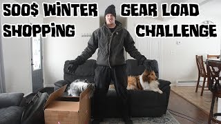 Winter Camping 500$ Gear Load-Out Shopping Challenge