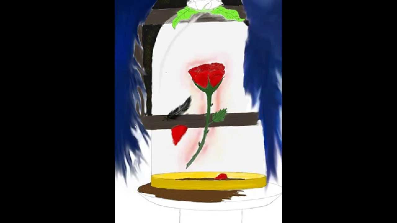 Enchanted Rose Drawing: The Beast's Enchanted Red Rose Drawing ( Sketch Club