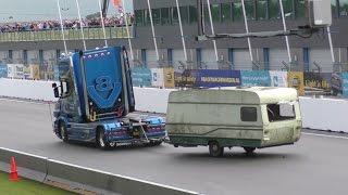 caravan demolition derby Truckstar festival Assen 2016 Video