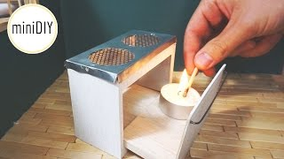 miniature Kitchen Stove that works! // DIY dollhouse - miniDIY