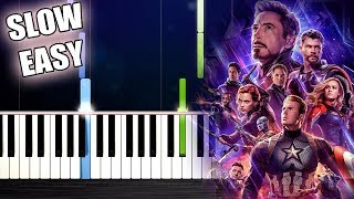 Baixar Avengers: Endgame- Portals - SLOW EASY Piano Tutorial by PlutaX