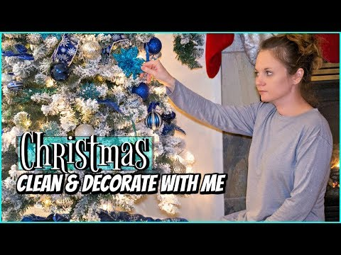 CHRISTMAS CLEAN AND DECORATE WITH ME 2018 | CHRISTMAS TREE DECORATING | WINTER WONDERLAND