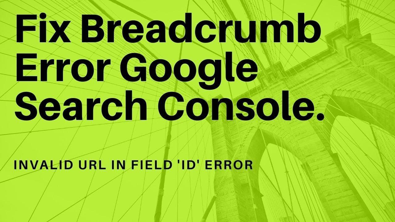 Cara Mengatasi Error Breadcrumb Template Blogger