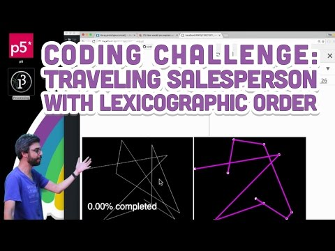 Coding Challenge #35.3: Traveling Salesperson with Lexicographic Order