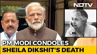 Deeply Saddended By The Demise Of Sheila Dikshit: PM Modi