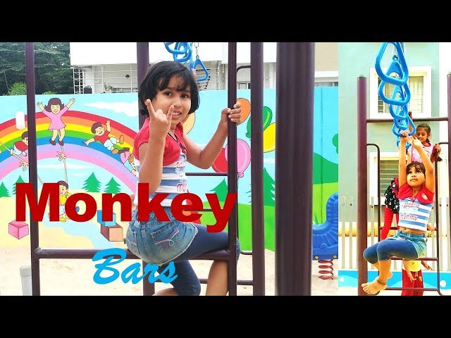 How to do monkey bars /Monkey bar fun/ Monkey Bars after Back to School/ Learn With Pari