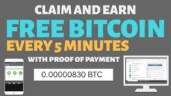 FREE Bitcoin every 5 minutes with proof of payment