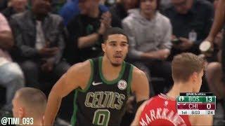 Jayson Tatum Highlights vs Chicago Bulls (18 pts, 3 reb, 2 ast)