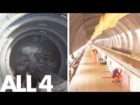 Europe's Largest Hidden Building Site - London's Crossrail Tunnel | Drones In Forbidden Zones
