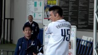 2010.4.29 埼玉西武ライオンズ対千葉ロッテマリーンズの試合前のステー...