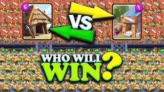 Goblin Hut Vs Barbarian Hut   Clash Royale Super Challenge #42