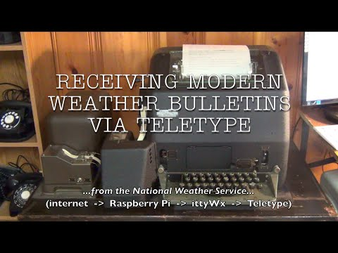 Receiving Modern National Weather Service Bulletins Via Teletype - IttyWx . 2020