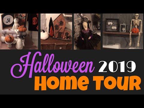 HALLOWEEN HOME TOUR 2019 | FARMHOUSE STYLE HALLOWEEN DECOR HOUSE TOUR | RUSTIC FALL DECOR HOME TOUR