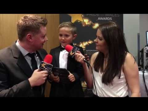 Pride of Wales 2016: Backstage with Isaac Nortan - Young Fundraiser of the Year with Ty Hafan