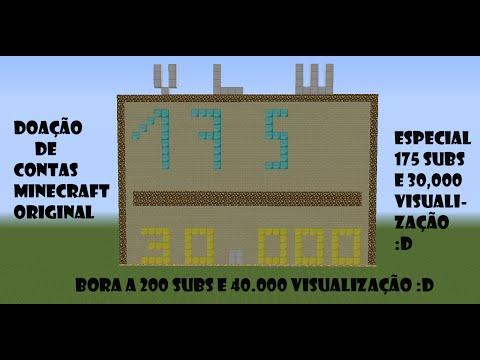 Minecraft:Doando Contas De Minecraft Original :D