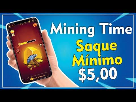 MINING TIME - NOVO APP COM SAQUE MÍNIMO DE $5 DÓLARES | 2020✔️
