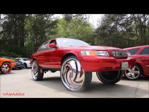 whipaddict kandy red mercury grand marquis on dub hurricayne 32s by underground rim king youtube kandy red mercury grand marquis on dub