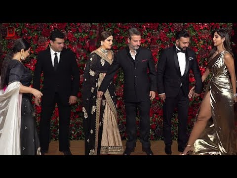 Shilpa Shetty, Raveena Tandon, Vidhya Balan Arrives At Ranveer Deepika's Wedding Reception