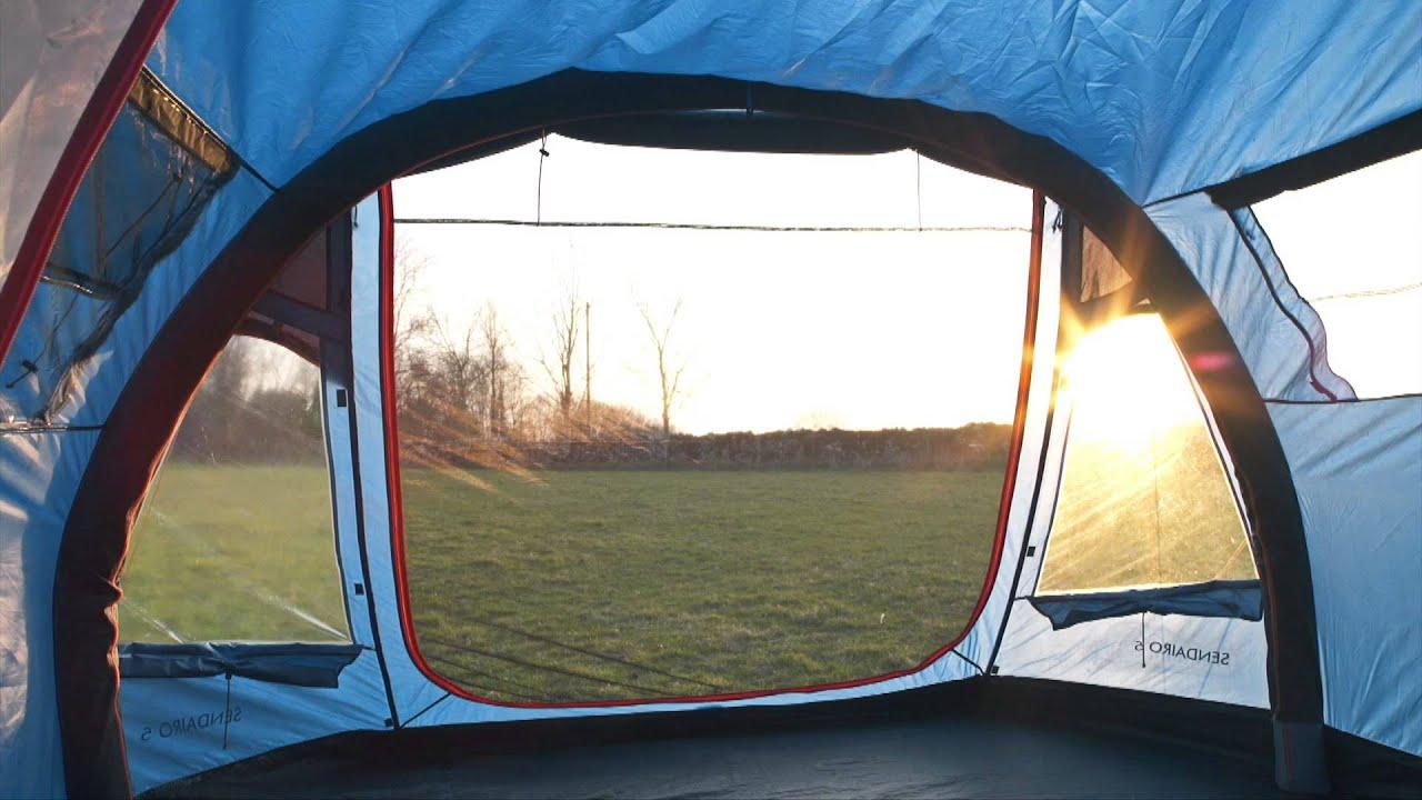 & Freedom Trail Sendairo 5 Inflatable Tent - YouTube
