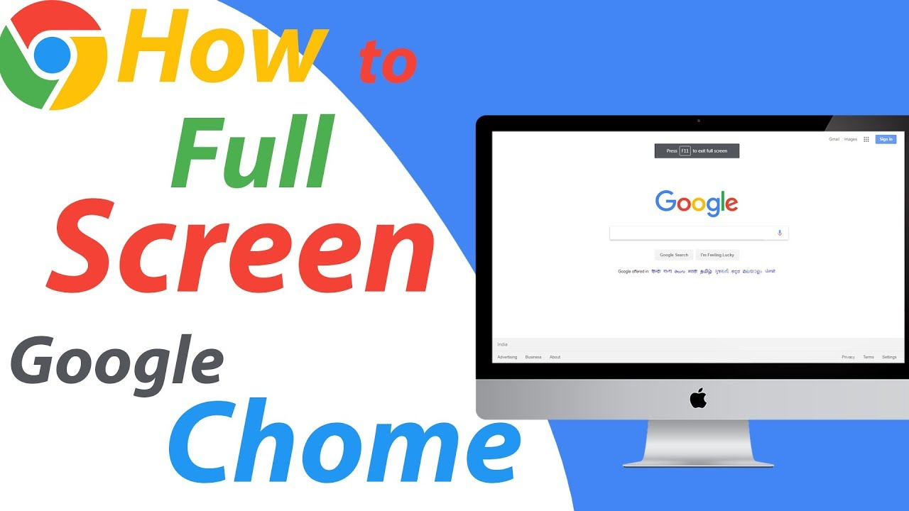 how to get full screen in google chrome