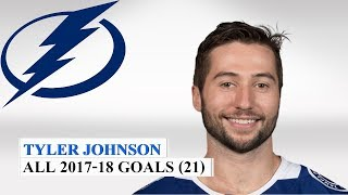 Tyler Johnson (#9) All 21 Goals of the 2017-18 NHL Season