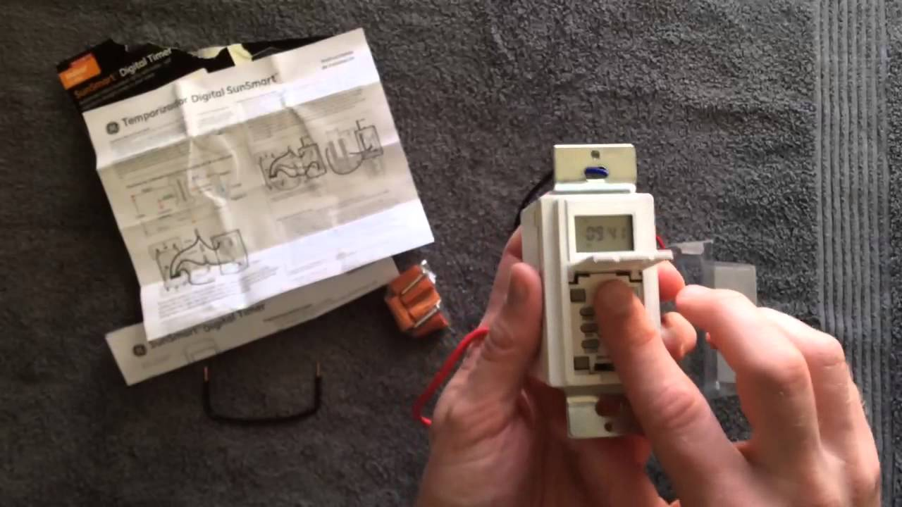 Ge Smart Digital Timer Wiring Trusted Diagrams Purchased A 3wayge Sunsmart Inwall It Comes Switch 15312 Unpacking Youtube Lamp