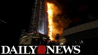 High-rise Hotel in Dubai Engulfed in Flames